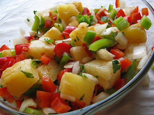 hawaiian bbq now with pineapple salsa at your next picnic