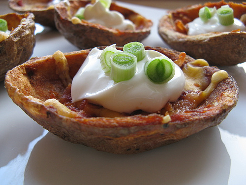 Loaded Potato Skins Recipe Potato skins make the perfect