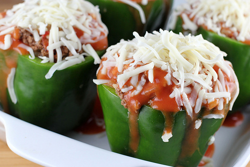 Stuffed Green Peppers Recipe | BlogChef.net