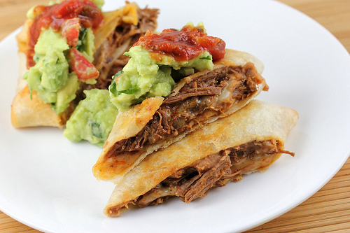 Shredded Beef Chimichangas Recipe — Dishmaps
