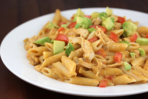 Recipe with shredded chicken and pasta