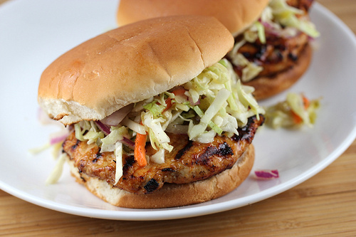 BBQ Chicken Burgers Recipe at Tastes Nice