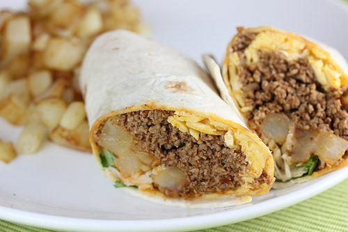 Chorizo and Egg Burrito Recipe | BlogChef.net