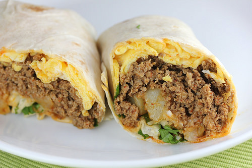 combination of chorizo and egg goes great in a burrito these burritos ...