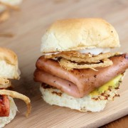 Fried Bologna Sliders