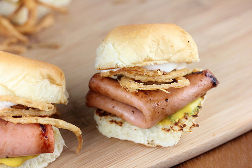 Fried Bologna Sliders Recipe