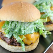 Burgers with Romaine Slaw