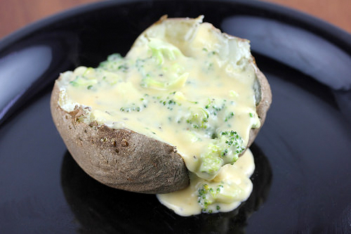 Baked Potato With Broccoli Cheese Sauce Recipe Cooking