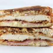 Chicken Cordon Bleu Grilled Cheese