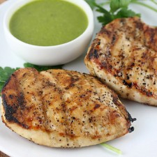 Grilled Chicken with Roasted Garlic Vinaigrette