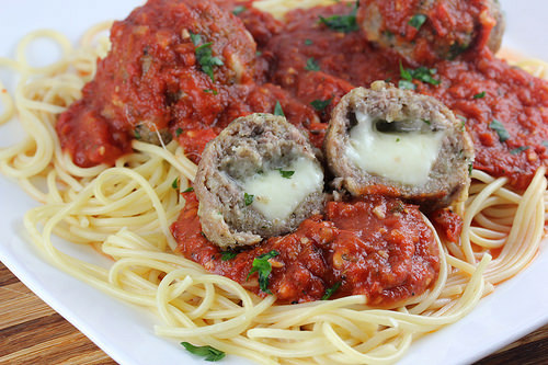 Asiago Stuffed Meatballs
