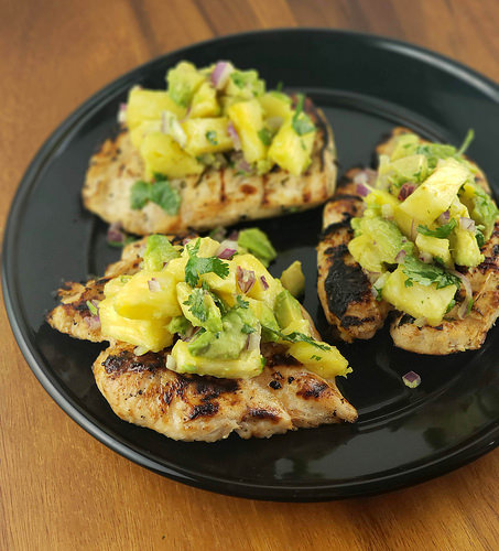 Grilled Chicken with Avocado Salsa Recipe
