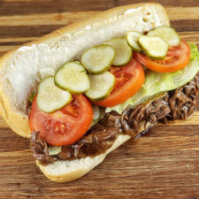 Slow Cooker Beef Po Boys