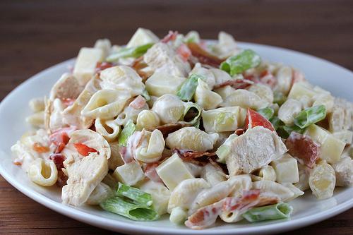 Chicken Bacon Ranch Pasta Salad Recipe Blogchef