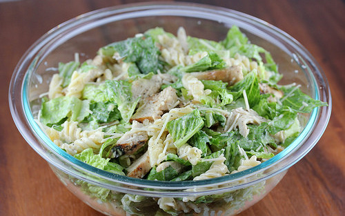 cchicken caesar pasta salad