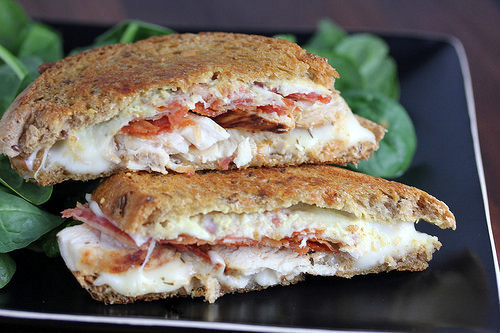 Dijon Chicken Grilled Cheese