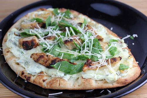 chicken artichoke flatbread