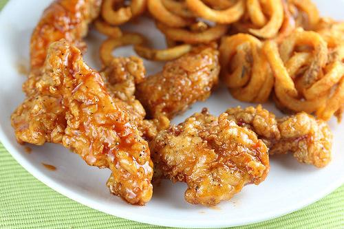 honey-chipotle chicken crispers