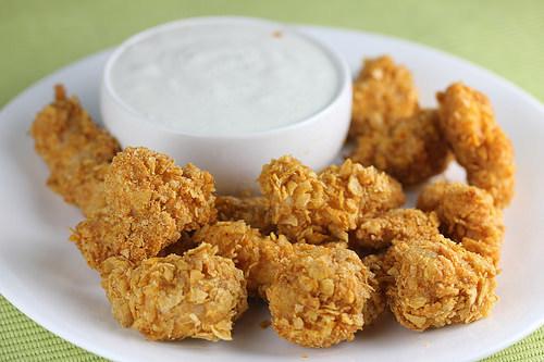 crispy chicken poppers