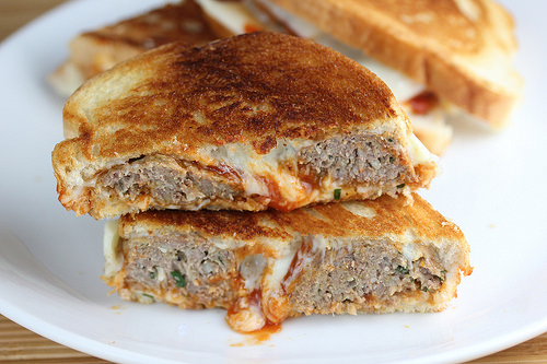 meatball grilled cheese