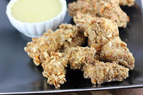 Pretzel Chicken Bites