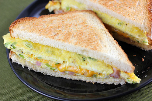 Denver Omelet Sandwich Recipe Blogchef