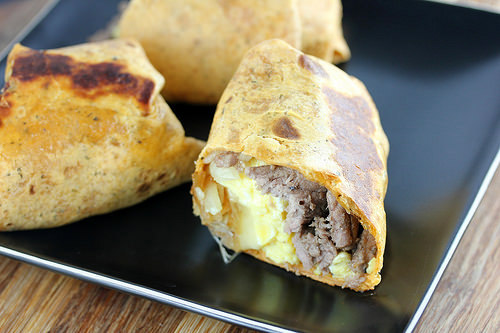 Steak and Egg Wraps