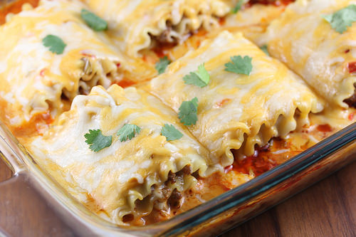 Taco Lasagna Roll Ups