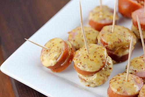 Maple Mustard Sausage Bites