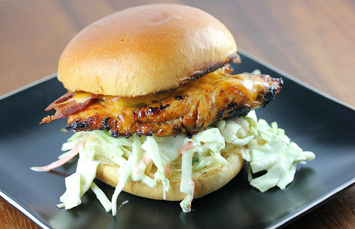 Grilled Chicken and Coleslaw Sandwich