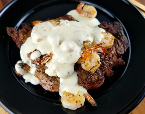 Shrimp and Parmesan Steak