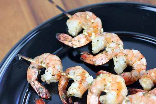Garlic Butter Grilled Shrimp