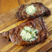 Grilled Steak with Blue Cheese Butter