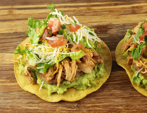 Chicken Tostadas Recipe for conco de mayo