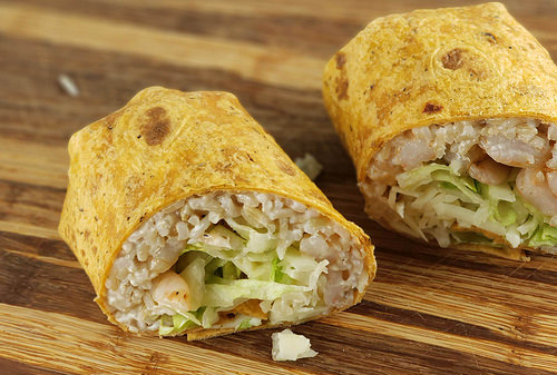 Cajun Shrimp Wraps