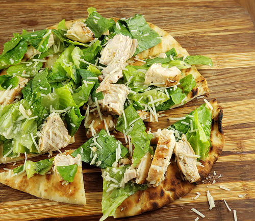 Chicken Caesar Flatbreads