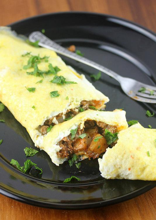 Chorizo Omelets