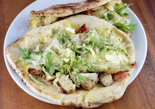Honey Mustard Chicken Flatbreads
