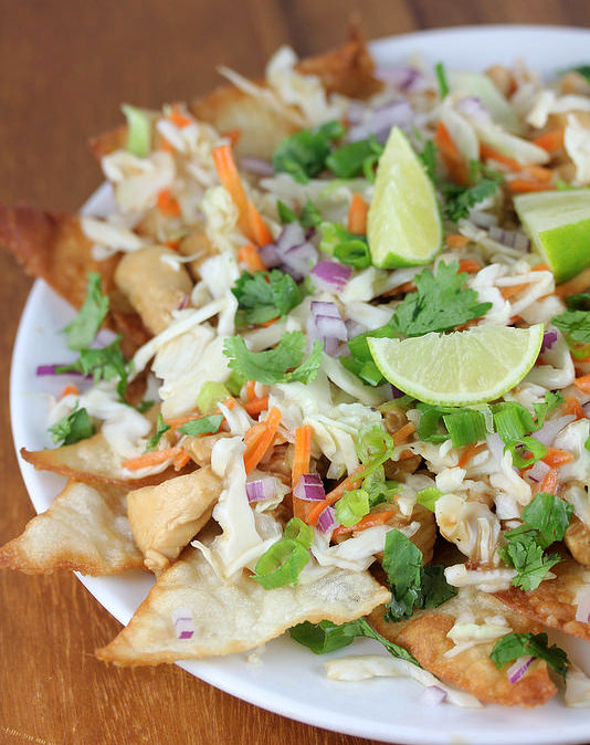 Wonton Chicken Nachos Recipe