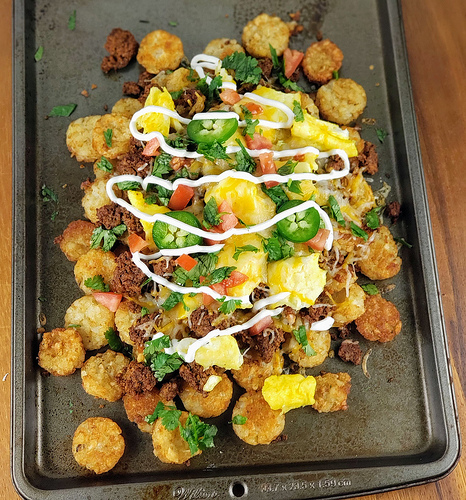 Chorizo Breakfast Totchos Recipe