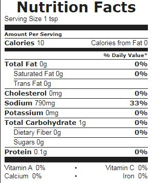 Chicken Bouillon nutrition facts