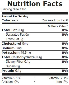 Dried Parsley nutrition facts