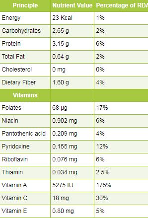 Dried basil nutrition facts