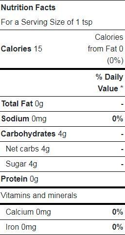 Vanilla Bean Paste nutrition facts