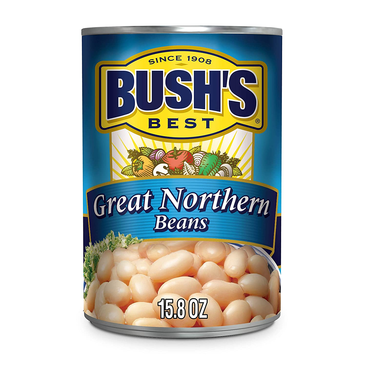 BUSH'S BEST Canned Great Northern Beans