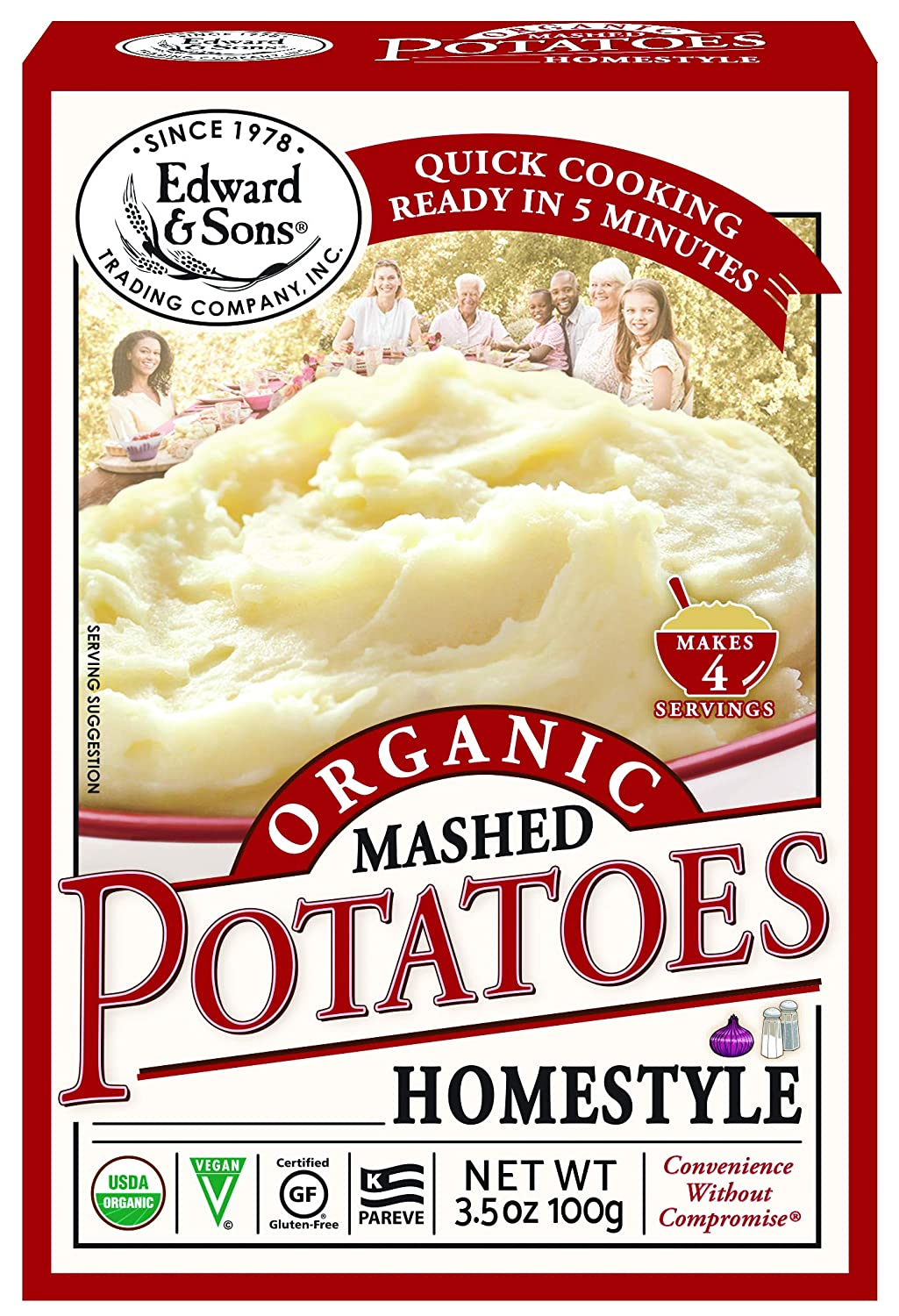 Edward & Sons Organic Mashed Potatoes Home Style