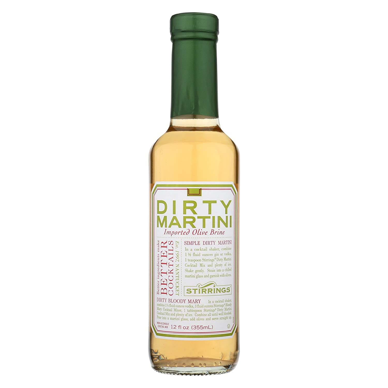 Stirrings All Natural Dirty Martini Cocktail Mixer