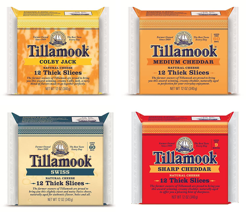 Tillamook Medium, Sharp, Swiss & Colby Jack Sliced Cheese