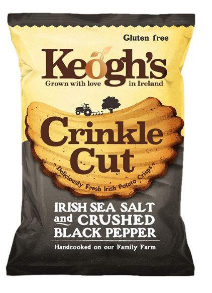 Keogh's Crinkle Cut Atlantic Sea Salt and Crushed Black Pepper Potato Chips