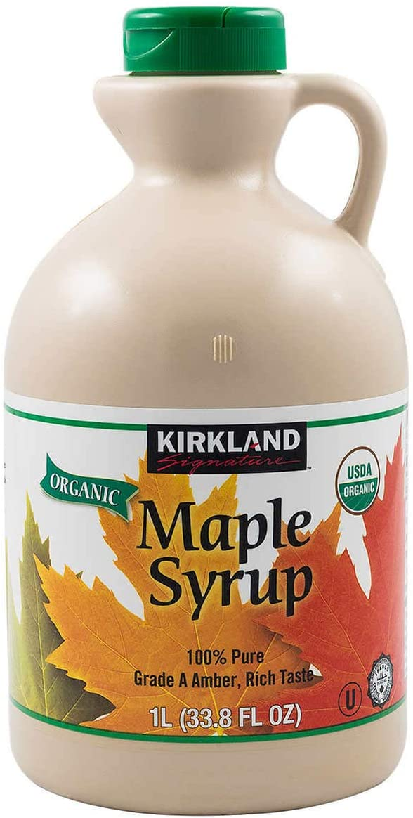 irkland Signature Organic Gluten Free 100% Pure, Grade A Amber Rich Maple Syrup